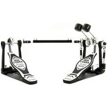 Pedal Duplo De Bumbo Tama Iron Cobra C/ Case Hp 600 Dtwb