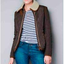 Jaqueta Zara Style - Azul Ou Marrom - Pronta Entrega