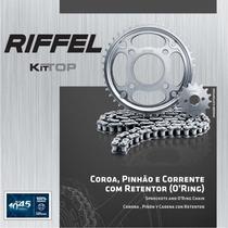 Kit Relação Riffel Yamaha Ys250 Fazer Corrente C/ Retentor