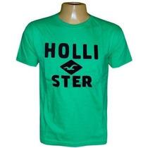 Camiseta Hollister Verde Hco366