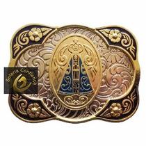 Fivela Country Cowboy Nossa Senhora Aparecida Para Cinto