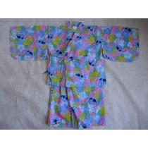 Kimono Yukata Infantil Feminino De Verão Lilo & Stitch