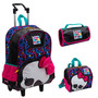 Kit Mochila Monster High C/ Roda + Lancheira + Estojo