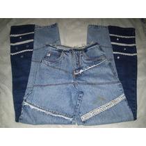 Calça Jeans Customizada Hipie Tamanho 40