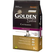 Ração Golden Gatos Castrados Frango 3kg - Golden