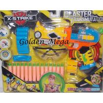 Brinquedo Arma Igual Nerf N-strike + Acessórios-importado