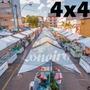Lona 300 América Branca Impermeável P/ Barraca De Feira 4x4