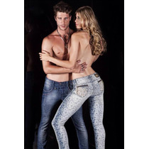 Calça Jeans Delux Com Silk Estilo Pi Bull