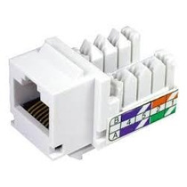 Keystone Rj45 Cat5e Branco Tomada Rede Internet Cx Sistema X