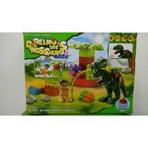 Bloco De Montar Reino Dos Dinossauros Musical.