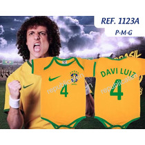 Body Bodies Infantil Copa Do Mundo Davi Luiz Neymar Hulk