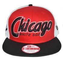 Boné New Era Aba Reta Snapback Aberto Mlb Chicago White Sox