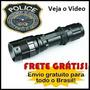 Lanterna Tática Led Police 2 Bateria Recarregál Frete Grátis