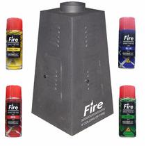 Máquina De Fogo / Fire Machine Multicolor Dmx 4 Refis Grátis