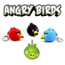 Atacado 20 Chaveiro Angry Birds Som E Luz Led