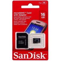 Cartão De Memória Microsd Card 16gb C/ Adaptador - Sandisk