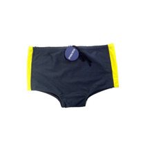 Sunga Boxer Cinza Chumbo Com Detalhe Amarelo - Areia Branca