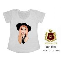 Camisetas Lady Gaga T-shirts Blusas Femininas - Estampas