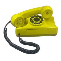 Telefone Antigo Amarelo Restaurado Tijolinho Retrô Vintage