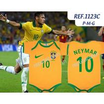 Body Infantil Copa Do Mundo 2014 Davi Luiz /neymar /hulk