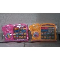 Ábaco Educativo Para Crianças Elefante Rosa E Amarelo