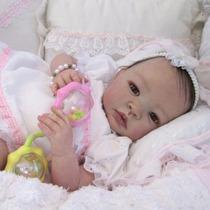 Bebê Reborn Bruna Boneca Detalhes Reais Muito Barata Linda