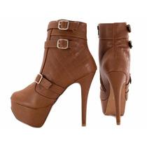 Lindo Sapato Sandália Bota Feminina Salto Alto 9 Cm Barata