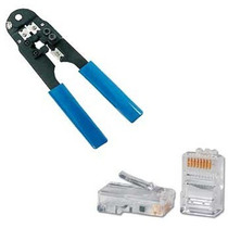 Kit Alicate De Crimpar 210c + 100 Conectores Rj-45!!