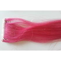 Mecha Colorida Rosa Escuro - Cabelo Humano-frete Grátis
