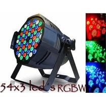 Refletor Led Par 64 Rgbw 54 Leds De 3w, Dmx, Strobo, Digital