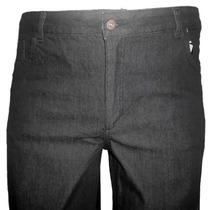 Calça Jeans Preta Masc.tradic.strech-46 48 50 52 54 56 58 60