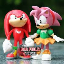 Boneco Sonic - Action Super Sonic Tails Knuckles Super Sonic