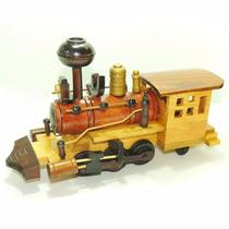 Locomotiva De Madeira Trem Maria Fumaça Brinquedo Ferrorama