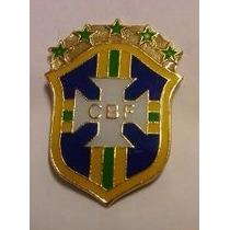 Pin Broche Enfeite Brasil Copa Futebol Escudo Cbf Bola Gol