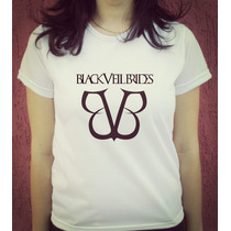 Babylook Camiseta Estampada - Black Veil Brides Bvb