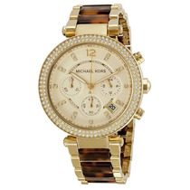 Relógio Michael Kors Mk5688 Dourado E Tartaruga Caixa/manual