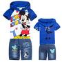 Conjuntos Bebê Infantil Mickey Camisa Bermuda Pronta Entrega