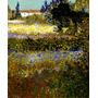 Jardim Florido Paris França 1888 Pintor Van Gogh Tela Repro