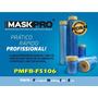 Filme Plástico Com Fita Crepe P/mascaramento Premium Kit Fs6