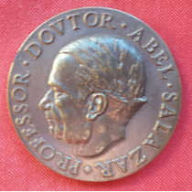 Prof. Dr. Abel Salazar - Grande Medalha De Bronze - 50 Mms