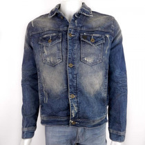 Jaqueta Jeans Masculina Beagle 032365 Original