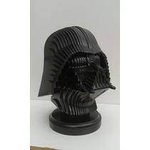 Escultura 3d Busto Darth Vader Frete Grátis!