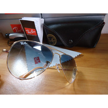 Ray Ban 3025 Large Metal Lente Azul Degrade Médio Original