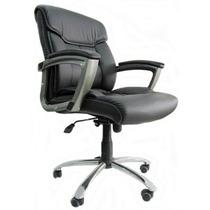 Cadeira Escritório Diretor Em Couro P.u Nf 01 Ano Garantia