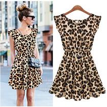 Vestido Leopard Print Pronta Entrega