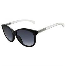 Óculos De Sol Calvin Klein Jeans Preto Haste Transparente