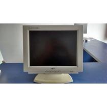 3 Monitores Lcd Branco Lg Lb563b-ea 15 100% Com Garantia