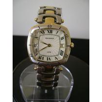 Relógio De Pulso Feminino Em Plaque De Ouro Technos A Quartz