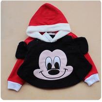 Casaco Infantil Bebê Ponche Mickey Minnie Fantasia Carnaval