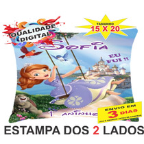50 Almofadas Personalizadas 15x20 Lembrança Princesa Sofia